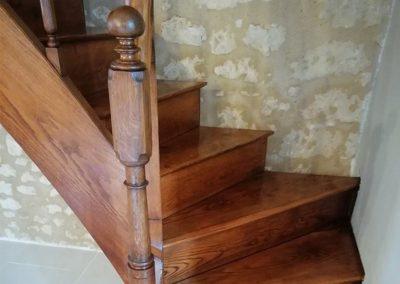 Rénovation escaliers en bois